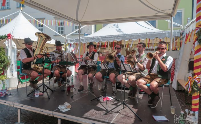 Village bands playing in Villach