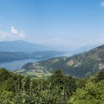 Stitched pano view of Millstattersee along the Mirnock Trail.