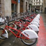 Barcelona, rental bikes. Spain.