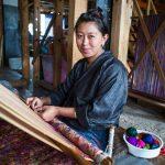 Textile weaver in Thimpu