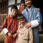 Group of happy Bhutanese schoolboys