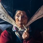 Yi Village Woman with Pipe, Yunnan Province, China