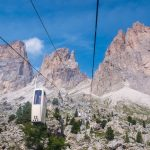 Ascending the mountain top in the narrow white cable cars nicknamed the 'coffin' because of its shape
