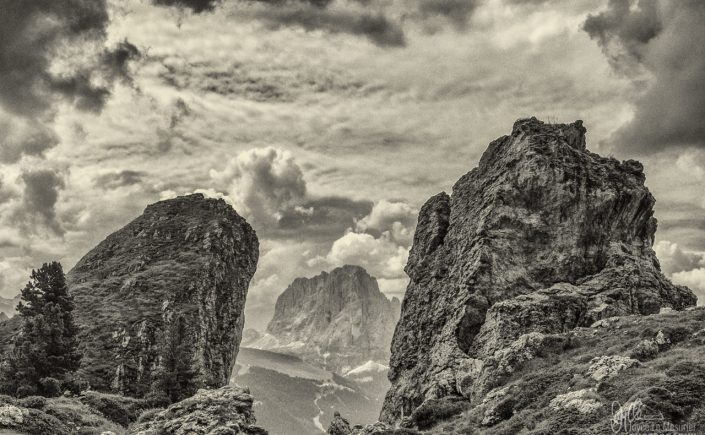 Dolomites Mountain Range in Italy.
