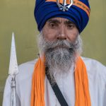 Sikh warrior (Nihang) at the Hollah Mahallah Festival
