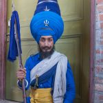 Young Sikh warrior (Nihang) at the Hollah Mahallah Festival