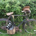 Bicycle used in popular UK Sitcom, Dad's Army. on display at the RHS Hampton Court Flower Show, England.