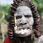 Mursi Tribe Woman with Lip Plate..
