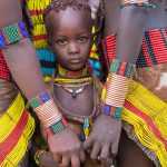 Young girl from the Hamer Tribe. Lower Omo Valley, Ethiopia