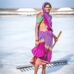 A salt pan worker from the Agariya tribe