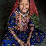 Smiley girl from the Jaat tribe, Gujarat, India.