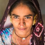 Recently-wed Woman from the Pathan Tribe in the Kutch region in Gujarat