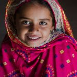 Young girl  from the Pathan Tribe in the Kutch region in Gujarat, India.