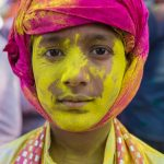 A face of Holi