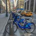 Citibike rental bikes in Manhattan, New York