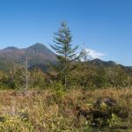 Stitched pano of a mountain range seen on one of the Shiretoko nature trails