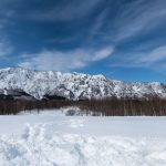 Stitched pano shot of Torikabuto-yama mountain range