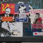 Putin-Trump posters and street art