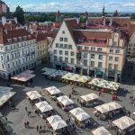 Market Day in the Old Town, Tallinn.