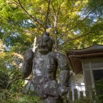 Female Temple Guardian statue at Cho-an ji, Kunisaki