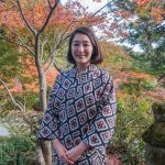 Young lady at Futago-ji, Kunisaki