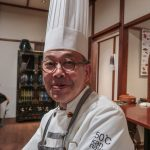 Chef of  Japanese-Chinese fusion steamed kaiseki dinner, Beppu