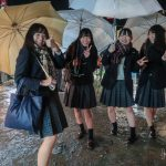 Japanese High School Girls at the Bamboo Festival in Taketa, Kyushu
