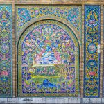 Beautiful Mosaics at Golestan Palace, Tehran