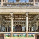 Beautiful mirror work and Mosaics at Golestan Palace, Tehran