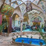 The beautiful Hammam Vakil in Kerman, Iran. Now a popular teahouse.