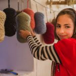 Girl with Wool Yarns.