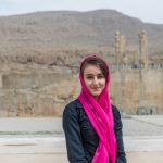 Portrait of an Iranian young lady at the Persepolis