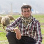 Portrait of an Iranian sheep farmer at a village outside Shiraz