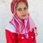 A girl from the Qashqaei tribe, Iran, photographed enroute to Passagarde.