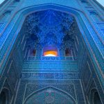 Blue hour at the Jameh (Friday) Mosque in Yazd
