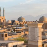 Badgirs (Windcatchers) and the Jameh Mosque in Yazd