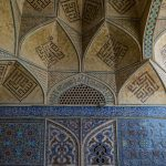 Mosaic frescoes at the Jameh Mosque in Isfahan.