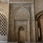 Lattice carved stonework at the Jameh Mosque in Isfahan