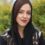 Portrait of an Iranian woman in a park  in Isfahan.