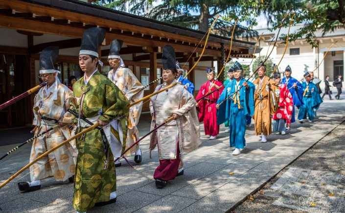Archery Festival at the Yasakuni Shrine, Tokyo. Oct 2015
