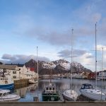Harbour in the fishing village of Henningsvaer