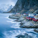 Robruer (red fishermen's cottages) in Reine, Lofoten, Norway