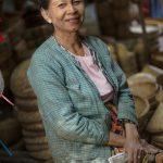 Stall keeper at the Bagan Ananda Festival Market