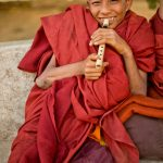 Chkeey boy  monk with Flute.