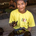 Burmese lacquer worker
