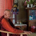 The blind, head monk at a monastery in Inle Lake