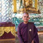 Nun at Shwedagon Pagoda, Yangon