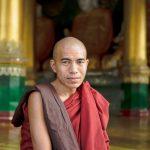 Burmese Monk  at the Shwedagon Pagoda, Yangon