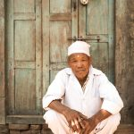Portrait of a Nepali man in Bhakatapur.