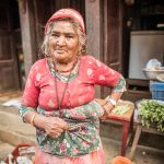 Vegetable seller in Bandipur